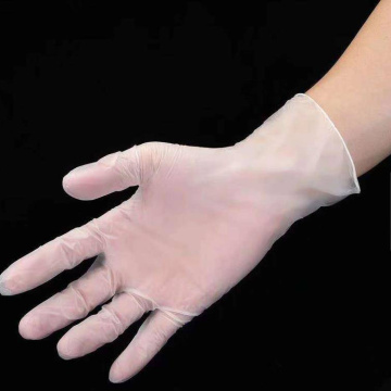 clear disposable vinyl examination gloves powder free blue pvc