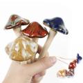 Ceramic Toadstools Simulation Mushroom Model Bonsai Ornament DIY Home Garden Lawn Decor 1pcs