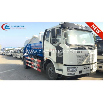 2019 New FAW J6 10000litres sludge suction truck