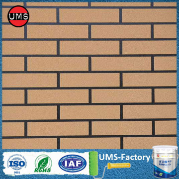 Brick wall exterior paint color