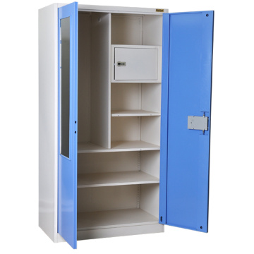 Blue Mirror Metal Wardrobe