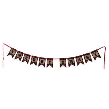 Scottish style Christmas burlap bunting
