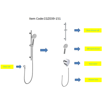 Best Chrome Plating Shower Rail Set