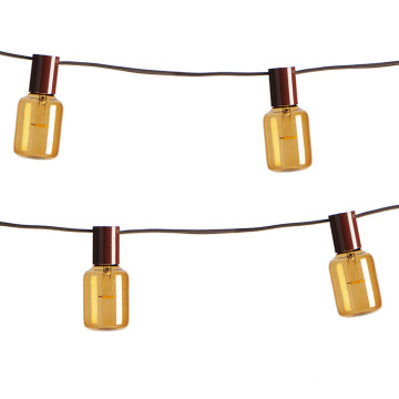 E17 Edison Light String Weatherproof T40