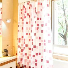 Shower Curtain PEVA Burgundy Pattern