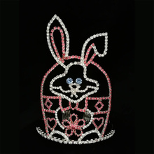 Holiday Pageant Crowns For Rabbit Easter Rhinestone Tiara