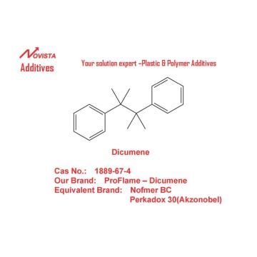 Dicumene substitute for antimony trixoide 1889-67-4