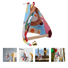 Parrot Bell Swing Parrot Swing Exquisite Standing Rack Toy Swing with Small Bells for Pet Bird