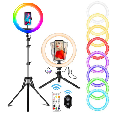 ring light 26cm Selfie RGB Ring Light Merry Christmas Photography Lighting with Tripod Bluetooth Remote Control for Photo Video
