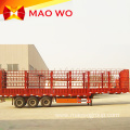 3 Axle Vegetable Fence Stake Semi Trailer