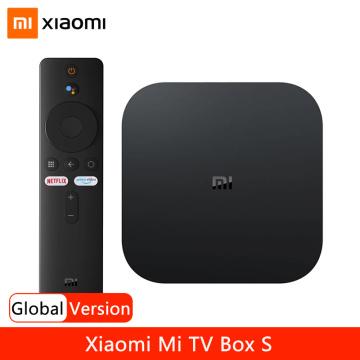 Global Version Xiaomi Mi Box S 4K Ultra HD Android TV 9.0 HDR 2G 8G WiFi Google Cast Netflix Smart TV Box S IPTV Set Top Box