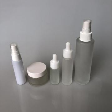 125ml frosted column bottle with mist pump