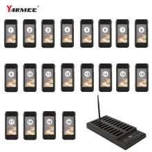 High Quality Wireless Restaurant Pager System For Restaurant Waiter Queue Calling Coffee Shop 20 Channeles YSP220