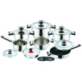 Stainless Steel  Cookware Set with Non-Stick Frypan