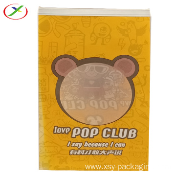 Stand up clear window bag for candy