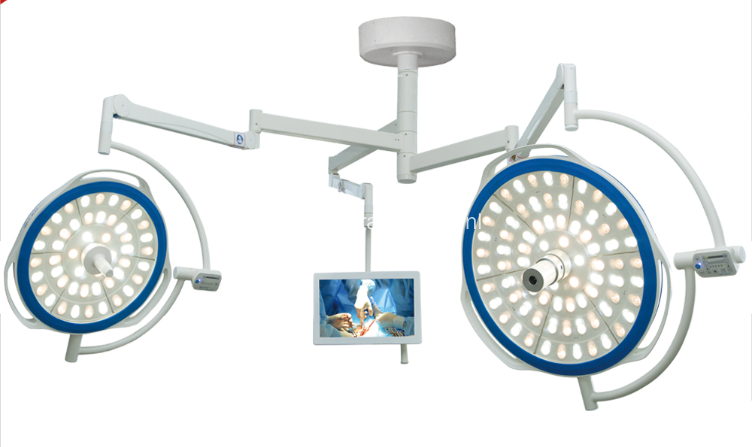 double head surgical operating lamp