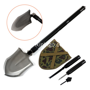 Folding multifunction car emergency survival shovel