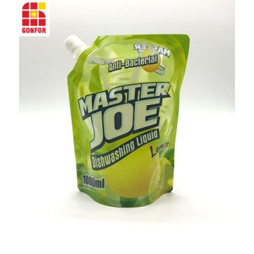Custom Printed Dishwashing Liquid Spout Pouch