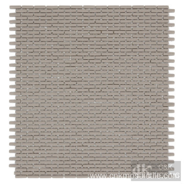 Beige Glass Mosaic Tiles for Bathroom