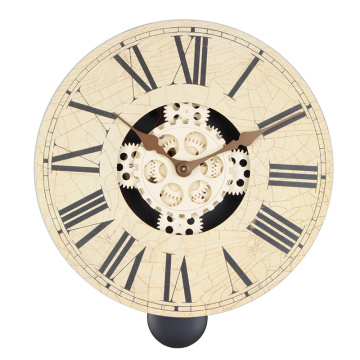 Vintage Wooden Wall Clock with Pendulum
