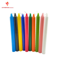 High quality pafaffin wax colors stick candle home decoration