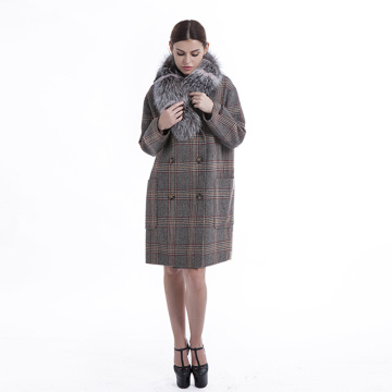 winter outwear with fur collar