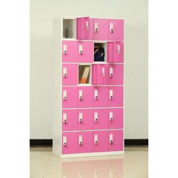18 Compartments Metal school Locker with lock