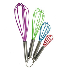 stainless steel handle silicone whisk utensils