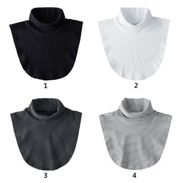 Stylish Women Girls Fake Collar Casual Style High Neck Lady Female Detachable Collar for Sweater Blouse Shirt Decor Accessory
