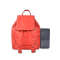 Fashion Genuine Leather Women Small Backpacks With Rivet