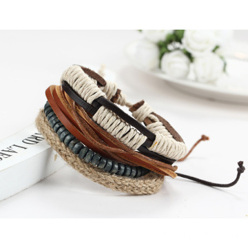 Multilayer Cool Bracelets Beads Leather Friendship Bracelets