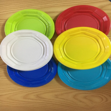 "6.5"" Party Pack PP  Plate Colorful dishes"