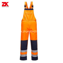 High visible safety bib pants