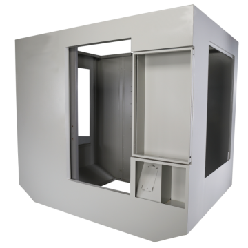 Customizable sheet metal matrix cabinet for CRS system