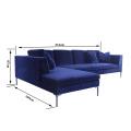 Modern Fabric Sofa Sectional corner sofa