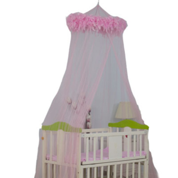 Baby Girls Mosquito Nets Pink Feather Bed Canopy