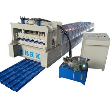 High Speed Glazed Tile Steel Roof Forming Machine