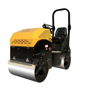 Heavy hydraulic double steel wheel road roller