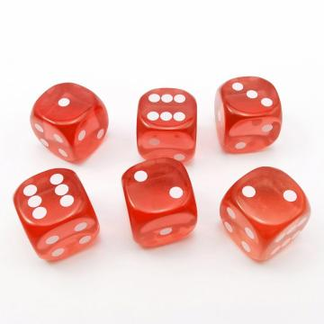 14.5MM Printing Precision Dice Translucent Red 0.57inch