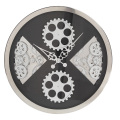 Gear Wall Clock With Sector and Round Shape