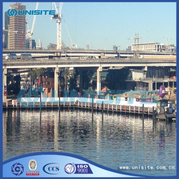 Steel marine water floating platforms