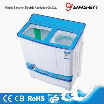 Transparent Blue Glass Cover 7.8KG Twin Tub Washing Machine