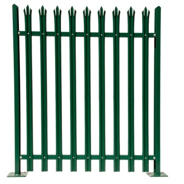 Galvanized Heavy duty W type palisade fence
