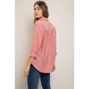 Ladies pink casual fashion shirt
