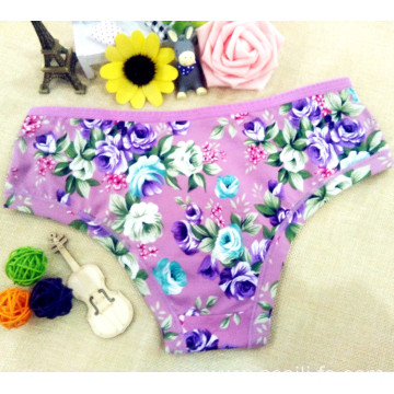 2016 China wholesale bamboo fiber high elastic women eco-friendly panty little printed flowers underwear 101