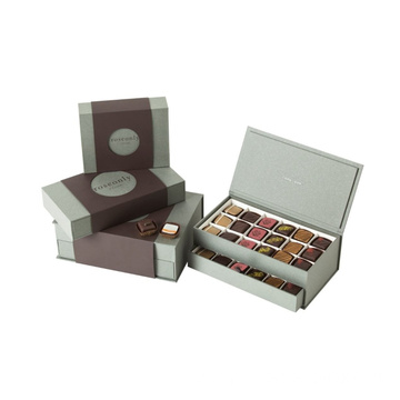 Grey Color Chocolate Box With Paper Divider