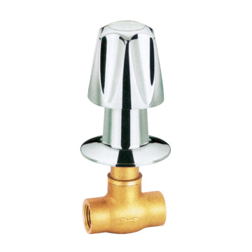brass stop valve with chrome plating hand wheel
