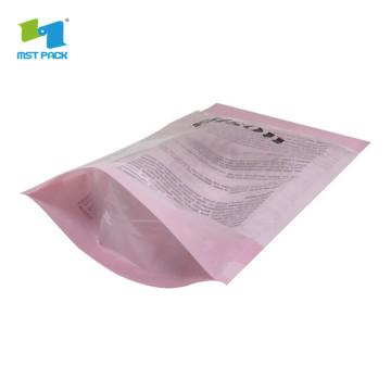 Heat Seal cornstarch biodegradable Plastic Packaging with your own logo