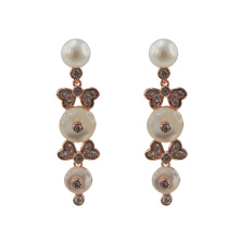 Elegant Mother Of Pearl Dangle Drop Earrings
