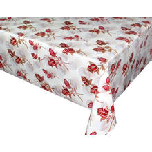 Pvc Printed fitted table covers Table Linens Oval